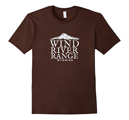 River Range (Mens Wind River Range T-Shirt, Wyoming Mountain Tee XL Brown)