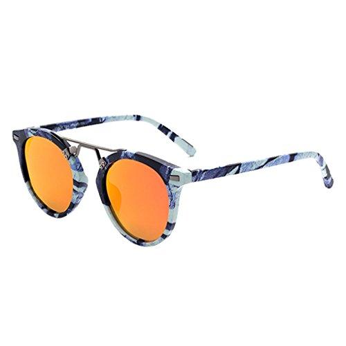 lentille lunettes Protection UV400 cadre résine en rondes de Lunettes en en extérieur Femmes plastique métal en lidahaotin de Fille Lunettes soleil 4 Hommes forme tAZ7I7