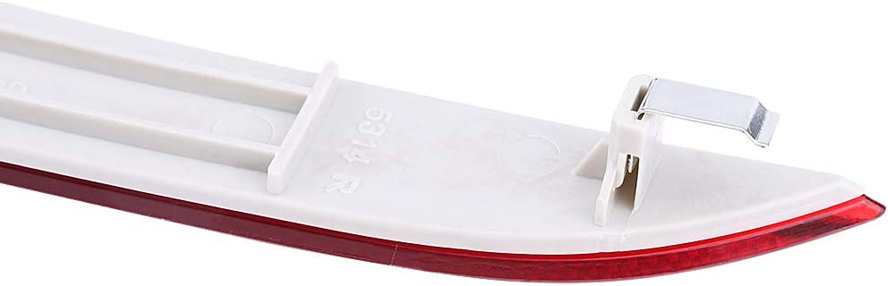 Broco Red Lens LED Bumper Reflector Left /& Right Rear Bumper Reflector for 5 Series E60 2003-2007 63146915039 63146915040