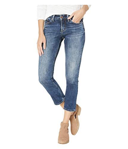 - Silver Jeans Co. Women's Suki Curvy Fit Mid Rise Capri, Power Stretch Dark, 29W x 22.5L