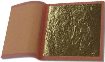 23.75K Genuine Gold Leaf Booklet (25 sheets/Loose Type)