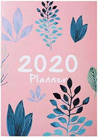 2020-Planer-Tagebuch 2020-Tagebuch-Arbeit A4 Planen Sie dieses manuelle Terminplan-Notizbuch Notebook-Pink 2020-Planer-Tagebuch