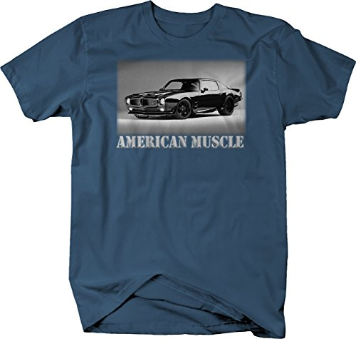 - Muscle Chevy Camaro Pontiac Transam Muscle Car Tshirt - Large (Camaro White Muscle Car T-shirt)