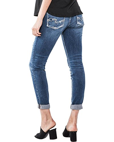 Silver Jeans Co. Womens Sam Boyfriend Mid Rise