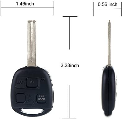 SCITOO Replacement Car Master Key Keyless Entry Remote Fob Transmitter Replacement 1 X 3B New fit HYQ12BBT Lexus RX330 RX350 RX400h RX450h 057237-5206-1616236041