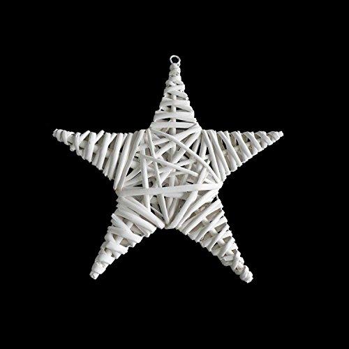 Deko Hänger 'Weißer Stern' Fensterhänger Fensterdeko, 25cm