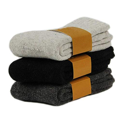 3Pack Men's Cashmere Wool Blended Winter Super Thick Warm Crew Socks Size 6-11 ()