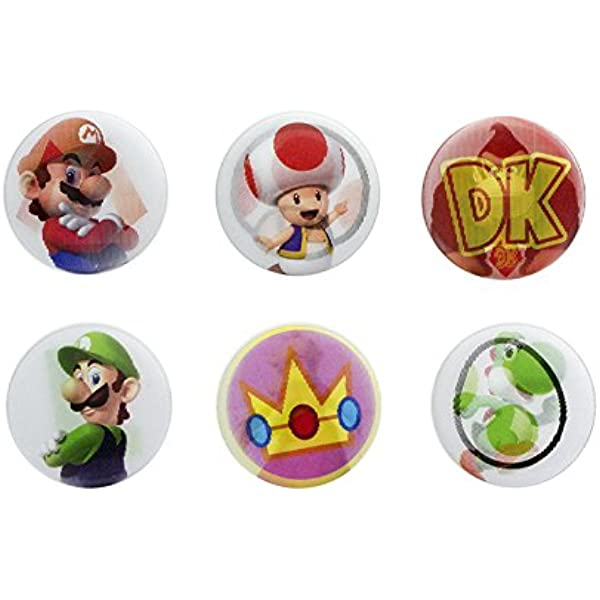 Paladone- Super Mario 3D Pack de Chapas (PP4030NN) , color/modelo surtido: Amazon.es: Juguetes y juegos