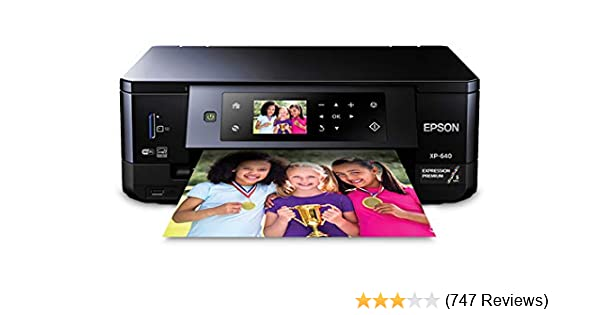 Amazon com: Epson Expression Premium XP-640 Wireless Color Photo