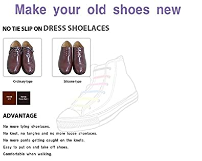 Koollace no tie silicon shoe laces for formal shoes brown small koollace no tie silicon shoe laces for formal shoes brown small 30 mm buy online at low prices in india amazon ccuart Images