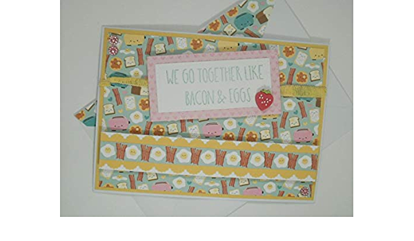 Breakfast Card Were In This Together Greeting Card Anniversary Card Bacon and Eggs Anniversary Gift Happy Anniversary Card For Husband