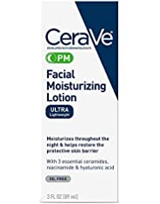 CeraVe P M | Night | Ultra-Lightweight, for Face | 3 Ounce