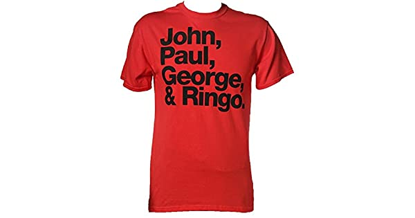 /John Paul George /& Ringo Names Official The Beatles Camiseta/