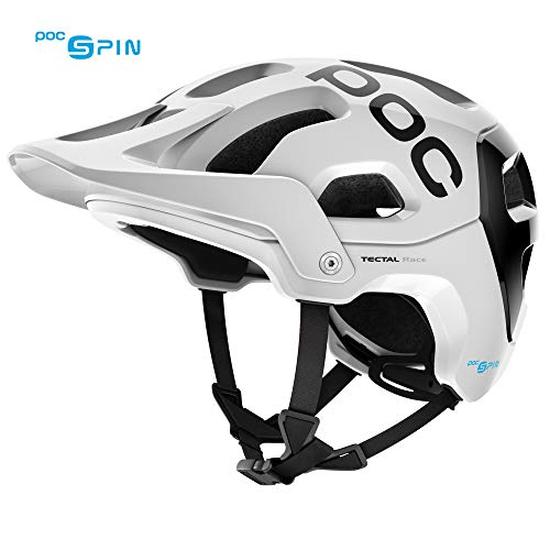 POC Tectal Race Spin, Helmet for Mountain Biking, Hydrogen White/Uranium Black, M-XL