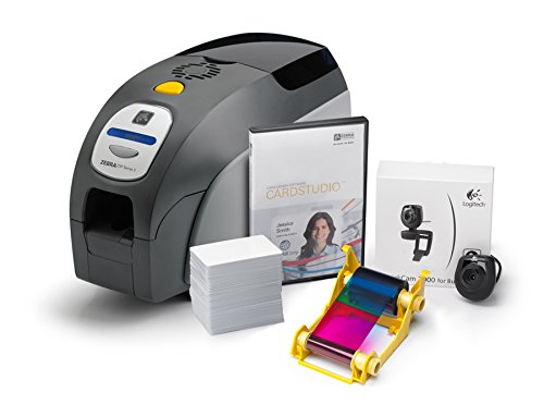 Zebra Z32-0000D200US00 QuikCard ID Solution ZXP Series 3 ID Card Printer, Single- and Dual-Sided Cards, Monochrome or Color, 300 dpi, 9.3'' H x 7.9'' W x 14.5'' D by Zebra
