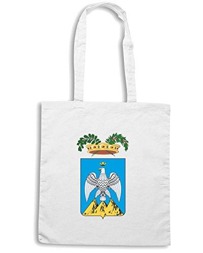 T-Shirtshock - Bolsa para la compra TM0117 provincia dell Aquila citta Blanco