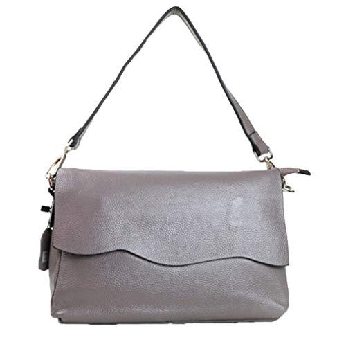 WDBAO La Versione Coreana Della Borsa Della Signora Messenger Bag Casual Semplice Tendenza Shopping Risalente Borsa A Tracolla Grey