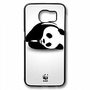 Samsung Galaxy S6 Case, iCustomonline Creative Panda Case for Samsung Galaxy S6 Black