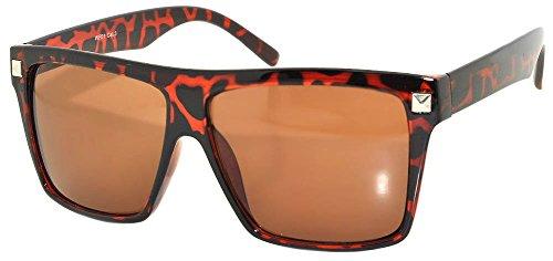Leopard Vintage Sunglasses - Women Vintage Amber Lens Sunglasses Leopard Frame OWL