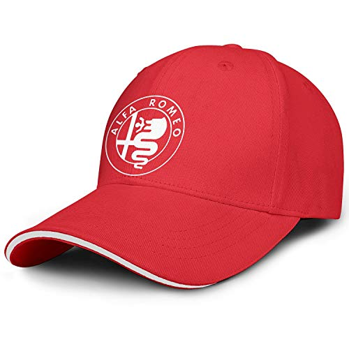 Baseball Hats for Men Women Alfa-Romeo-Logo- All Cotton Snapback Adjustable Red Cap
