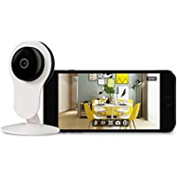 Surveillance Wifi Security Home Camera - 720P Wireless Indoor Baby Camera No Monthly Cost, Including Live View, Night Vision, Motion Detection and 2-Way Audio for Home Monitor with Micro SD Card Slot