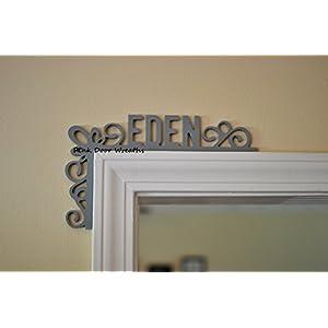 Door Frame Name Plate Monogram Wooden; Dorm Decor; Nursery Decor; Wedding Gift - LOTS OF COLORS!! 22