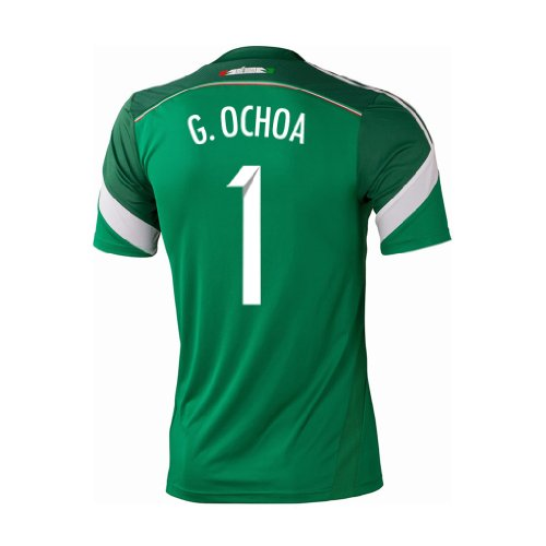 Adidas G. OCHOA #1 Mexico Home Jersey World Cup 2014 (S) by adidas