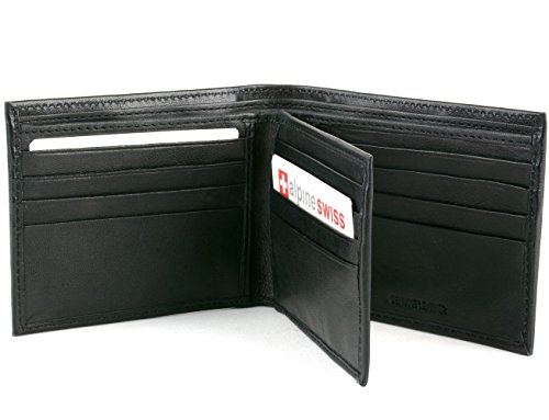 Men's Leather Wallet Euro Traveler Extra Capacity Bifold Center Flip ID Window - Leather Gents