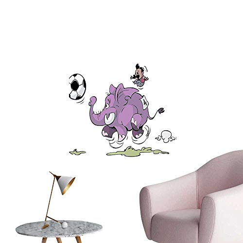 (Modern Painting Playing Soccer Mario Moustache Sports Football Print Purple White Home Decoration,16