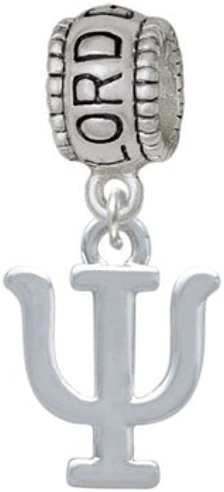 Lord Guide Me Charm Bead Large Greek Letter