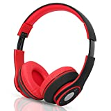 Hi-Fi Stereo Wireless Bluetooth Headphones , Foldable Over Ear Headset with Microphone for Phones /Tablet /Audio-Black