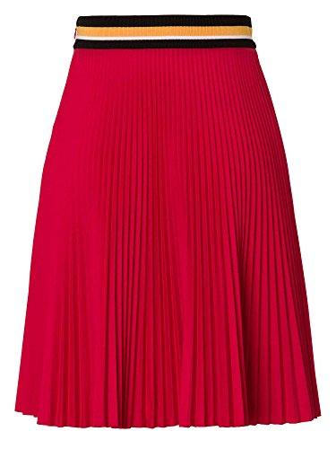 PRADA Falda plisada Mujer Rojo