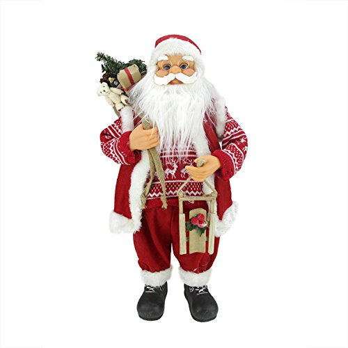 """Northlight 24"""" Country Twist Standing Santa Claus Christm..."""