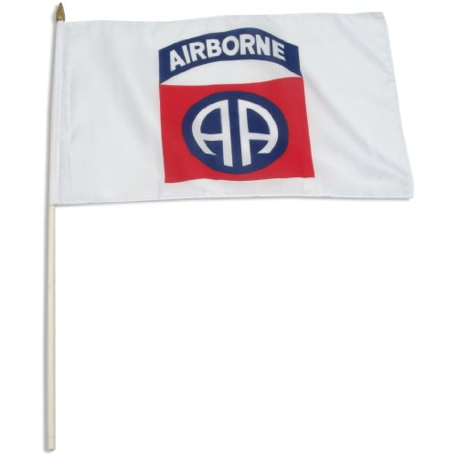 US Flag Store 12 by 18-Inch 82nd Airborne Flag Mounted on 24