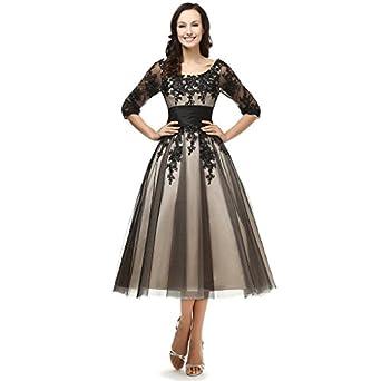 Amazon.com: Snowskite Women's Black Lace Applique Tulle