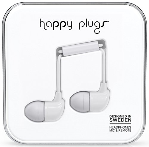 Happy Plugs In-Ear Earphones - White by GadgetCenter