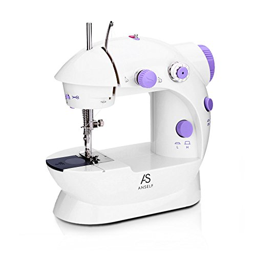 (Anself Mini Electric Household Sewing Machine 2 Speed Adjustment AC100-240V (Type 1))