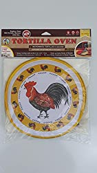 La Tortilla Oven The Original Tortilla Warmer, 10 Inch, Rooster With Yellow Rim