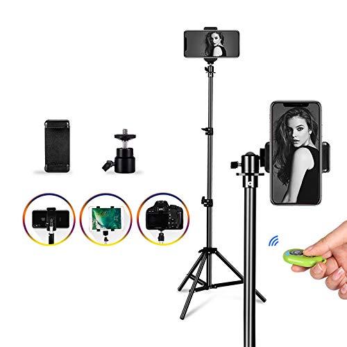 Haosan Bewegliche Aluminiumstativ Stativhalterung Digitalkamera-Stativ für Telefon mit Bluetooth-Fernbedienung Selfie…