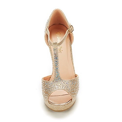gold Wedges PAIRS Women's Angeline Glitter Sandals 01 DREAM wz6BYq