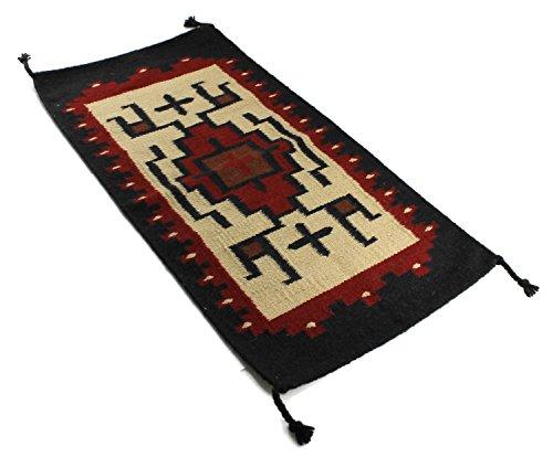 Onyx Arrow Southwest Décor Wool Area Rug, 20 x 40 Inches, Campolina