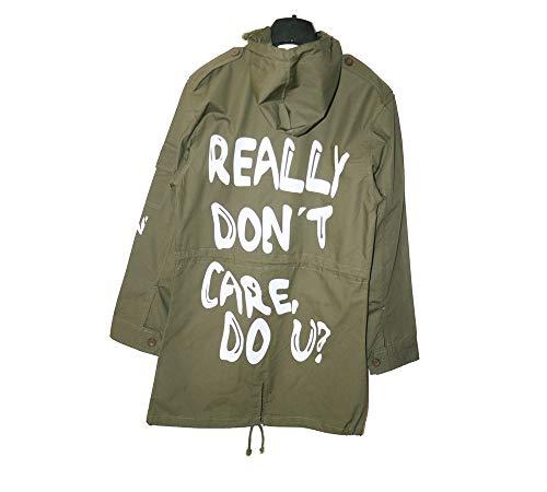 - NEXT ATLANTIC Melania Trump Jacket I Really Don't Care do u Army Jacket Slim Fit Women's Hooded Military Jacket (Women's Large) Olive