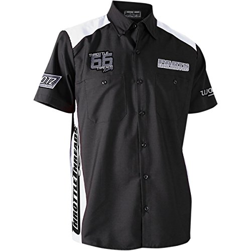 Throttle Threads PSU30S28BWSR Parts Unlimited Shop Shirt, Gender: Mens/Unisex, Primary Color: Black, Size: Sm, Distinct Name: (Throttle Threads)