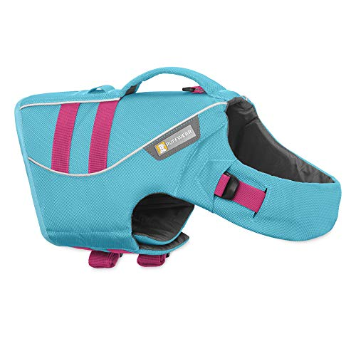 RUFFWEAR - Float Coat Dog Life Jacket for Swimming, Adjustable and Reflective, Blue Atoll, ()
