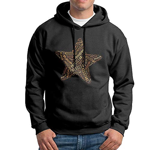 Assistant Hooded Sweatshirt (X-JUSEN Men's Physician's Assistant (P.A.) Five-Pointed Star Hoodies Hooded Sweatshirt Pullover Sweater, Drawstring Hooded Jersey Jacket)