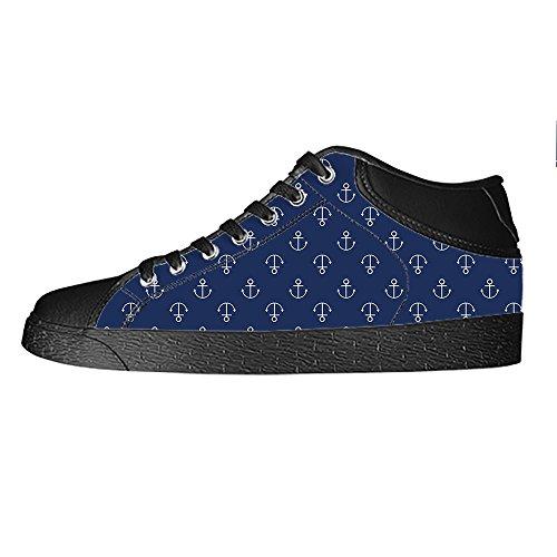 Dalliy Blau des Ozeans Anker Mens Canvas shoes Schuhe Lace-up High-top Sneakers Segeltuchschuhe Leinwand-Schuh-Turnschuhe C