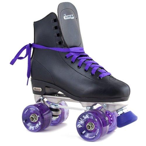 Chicago Starter Pulse Purple Outdoor Black High Top Quad Roller Skates