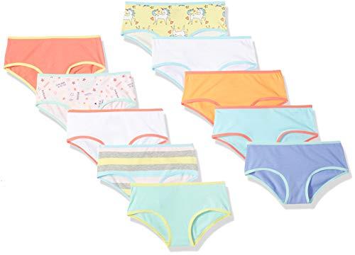 Spotted Zebra Toddler Girls' 10-Pack Bikini Underwear, Cupcakes, 3T (Big Girl Underwear Bikini)