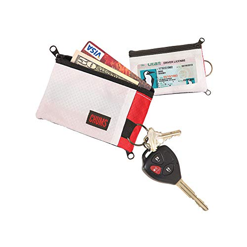- Chums 18401158 Surfshorts Wallet, White/Red