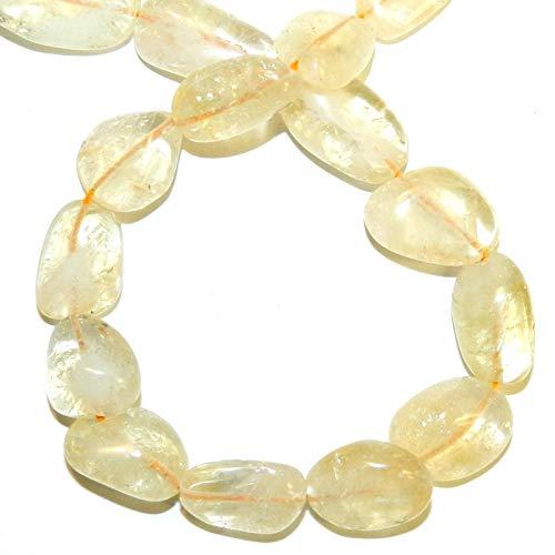 "Bead Jewelry Making Yellow Citrine 11mm - 25mm Graduated Polished Nugget Gemstone Beads 14"""